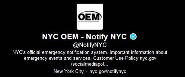 NYC OEM - Notify NYC